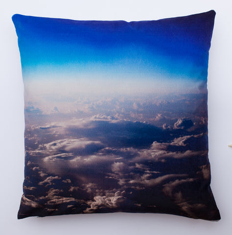 Cloud  1, digitally printed Velvet cushion