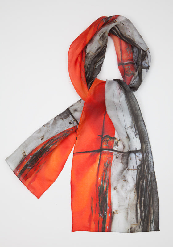 Orange Crush : Silk scarf
