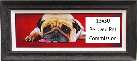 Beloved Pet Commission 13x30