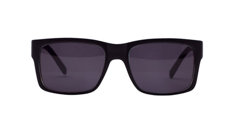 Filtrate Eyewear John Brown | Injected | BLACK GLOSS/ GREY SMOKE LENS POLARIZED