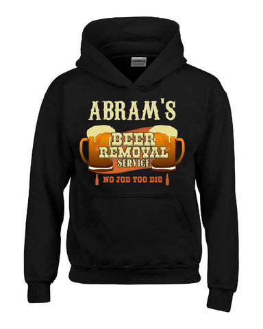 ABRAM S Beer Removal Service No Job Too Big-Hoodie
