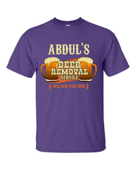 ABDUL S Beer Removal Service No Job Too Big-Unisex Tshirt