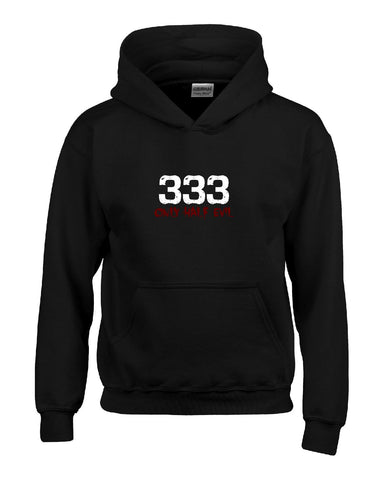 333 Only Half Evil Funny Halloween Gift  - Hoodie