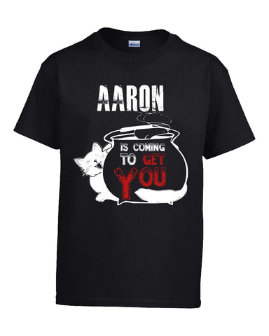 AARON Is Coming To Get You Halloween - Kids T Shirt