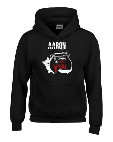 AARON Is Coming To Get You Halloween - Kids Hoodie