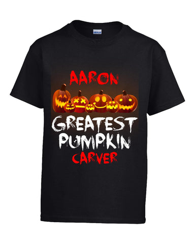 AARON Greatest Pumpkin Carver v1 Halloween - Kids T Shirt