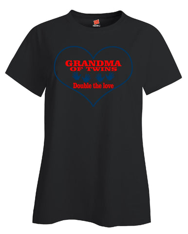 07 grandma of twins copy - Ladies T Shirt
