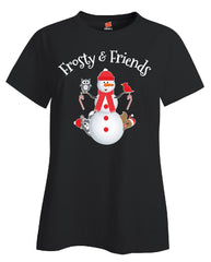 Frosty And Friends Christmas - Ladies T Shirt