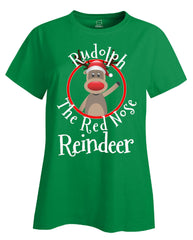 Rudolph The Red Nose Reindeer Christmas - Ladies T Shirt
