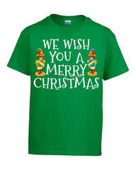 We Wish You A Merry Christmas - Kids T Shirt
