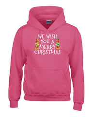 We Wish You A Merry Christmas - Kids Hoodie