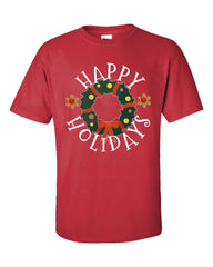 Happy Holidays Christmas - Unisex Tshirt