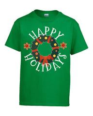 Happy Holidays Christmas - Kids T Shirt