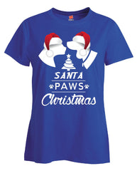 Santa Paws Dogs Christmas - Ladies T Shirt