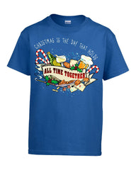 Christmas Is The Day That Holds All Time Together - Kids T Shirt