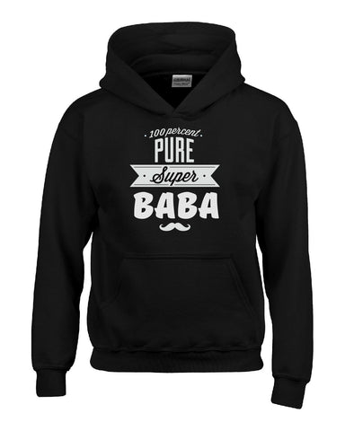 100 Percent Pure Super BABA Gift For BABA - Hoodie