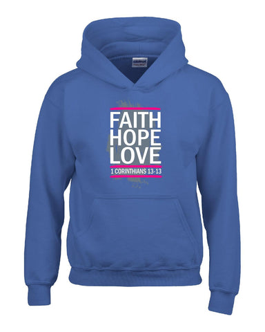 1 Corinthians 13 13 Faith Hope Love christian gifts Ttd1 - Hoodie