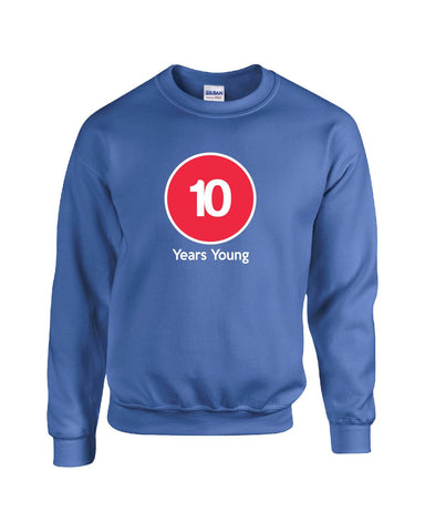 10 Years Young Birthday Age Gift - Sweatshirt