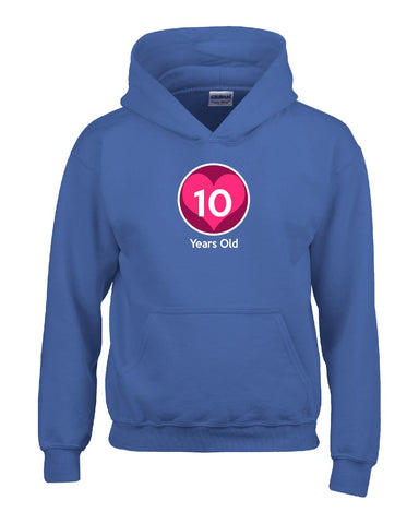 10 Years Old Birthday Age Gift for Child Girl - Kids Hoodie