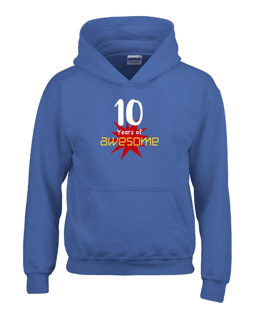 10 Years of Awesome Birthday Age Gift - Hoodie