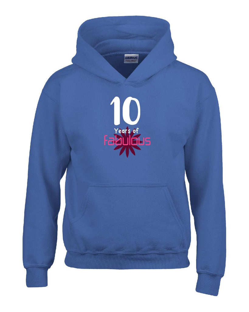 10 Years of Fabulous Birthday Age Gift - Hoodie