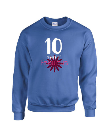 10 Years of Fabulous Birthday Age Gift - Sweatshirt