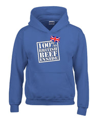 100 Percent British Beef Inside Great Design - Hoodie feature