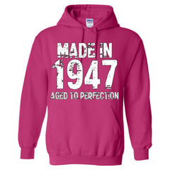 Made in 1947 - Aged To Perfection - Adult Hoodie