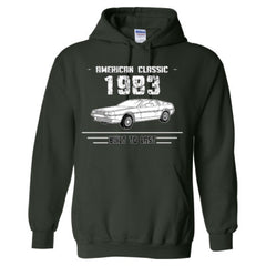 1983 American Classic - Built To Last - Adult Hoodie