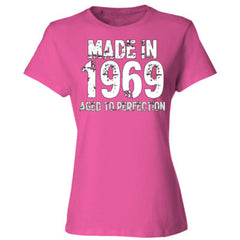 Made in 1969 - Aged To Perfection - Ladies' Cotton T-Shirt