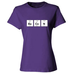 BACON PERIODIC TABLE T SHIRT - Ladies' Cotton T-Shirt