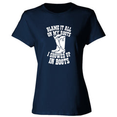 Blame It All On My Roots - Ladies' 4.5 oz., 100% Ringspun Cotton nano-T® T-Shirt
