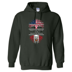 AMERICAN GROWN WITH PERUVIAN ROOTS GREAT HOODIE PERU - Adult Hoodie