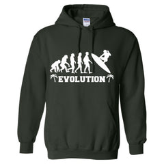 Evolution of a Surfer - Adult Hoodie