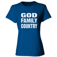 God Family Country - Ladies' Cotton T-Shirt