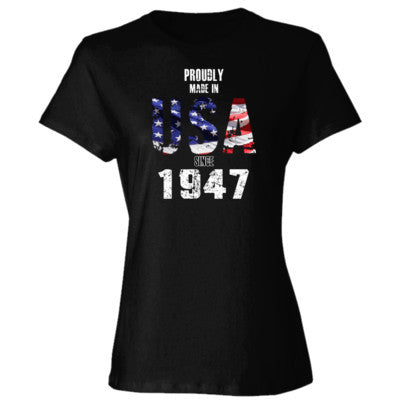 Proudly Made in USA since 1947 - Ladies' 4.5 oz., 100% Ringspun Cotton nano-T® T-Shirt