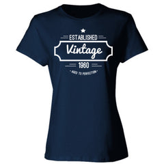 1960 Vintage Aged to Perfection T Shirt - Ladies' Cotton T-Shirt - Ladies' Cotton T-Shirt
