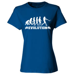 Evolution of a Baseball Player - Ladies' Cotton T-Shirt
