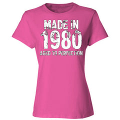Made in 1980 - Aged To Perfection - Ladies' Cotton T-Shirt