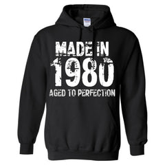 Made in 1980 - Aged To Perfection - Adult Hoodie