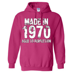 Made in 1970 - Aged To Perfection - Adult Hoodie