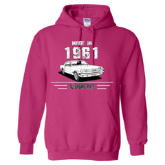 Made in 1961 - All Original Parts - Adult Hoodie