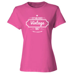 1967 Vintage Aged to Perfection Shirt - Ladies' Cotton T-Shirt