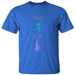 WILL RUN FOR WINE GREAT FUNNY SHIRT - Ultracotton T-Shirt
