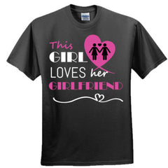 This girl loves her girlfriend - pink - Adult Tshirt
