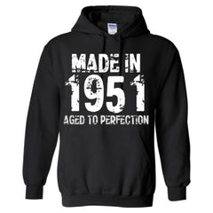 Made in 1951 - Aged To Perfection - Adult Hoodie