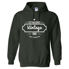 1965 VINTAGE AGED TO PERFECTION T SHIRT - Adult Hoodie