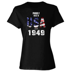 Proudly Made in USA since 1949 - Ladies' 4.5 oz., 100% Ringspun Cotton nano-T® T-Shirt