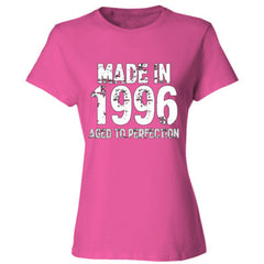Made in 1996 - Aged To Perfection - Ladies' Cotton T-Shirt