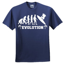 Evolution of a Surfer - Adult Tshirt